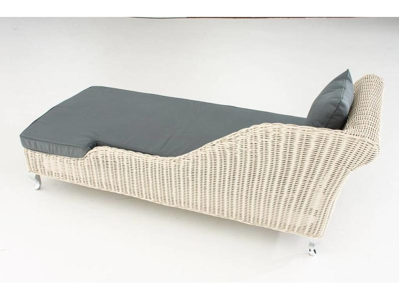 "Chaise longue "" Savannah Wit-Grijs """