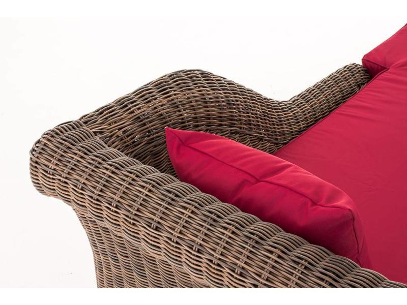 "Chaise longue "" Savannah Bruin-Rood """