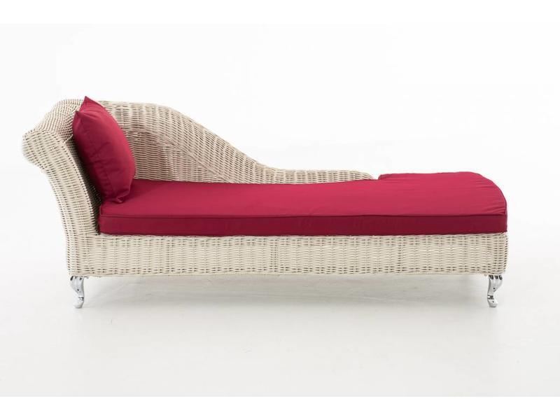 "Chaise longue "" Savannah Wit-Rood """