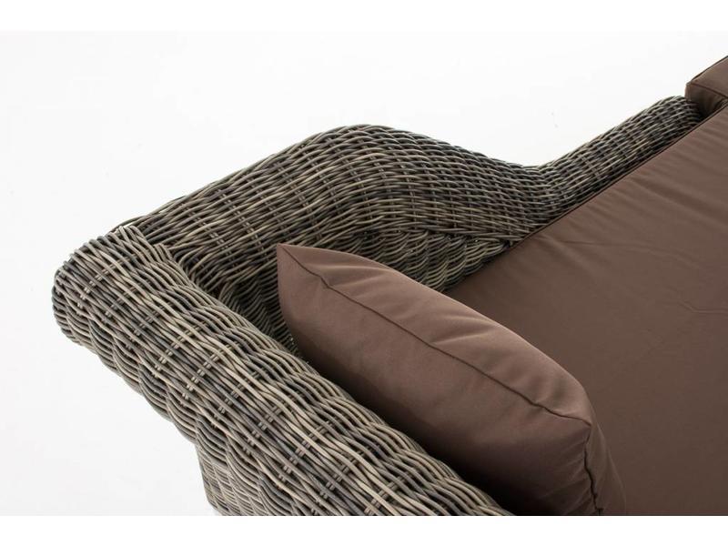 "Chaise longue "" Savannah Grijs-Bruin """
