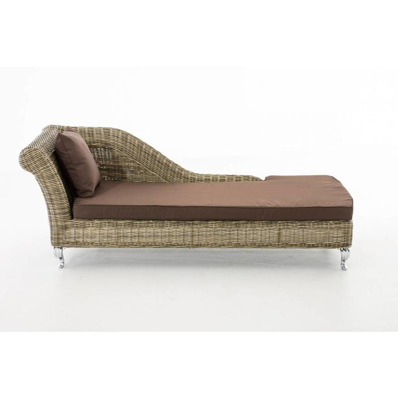 "Chaise longue "" Savannah Naturel-Bruin """