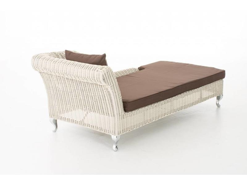 "Chaise longue "" Savannah Wit-Bruin """