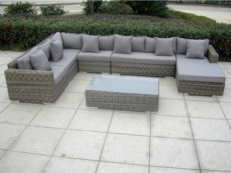 "Loungeset "" Perfection Grijs """