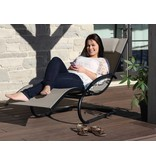 """Ligbed """" Wave Lounger Cocoa """""""