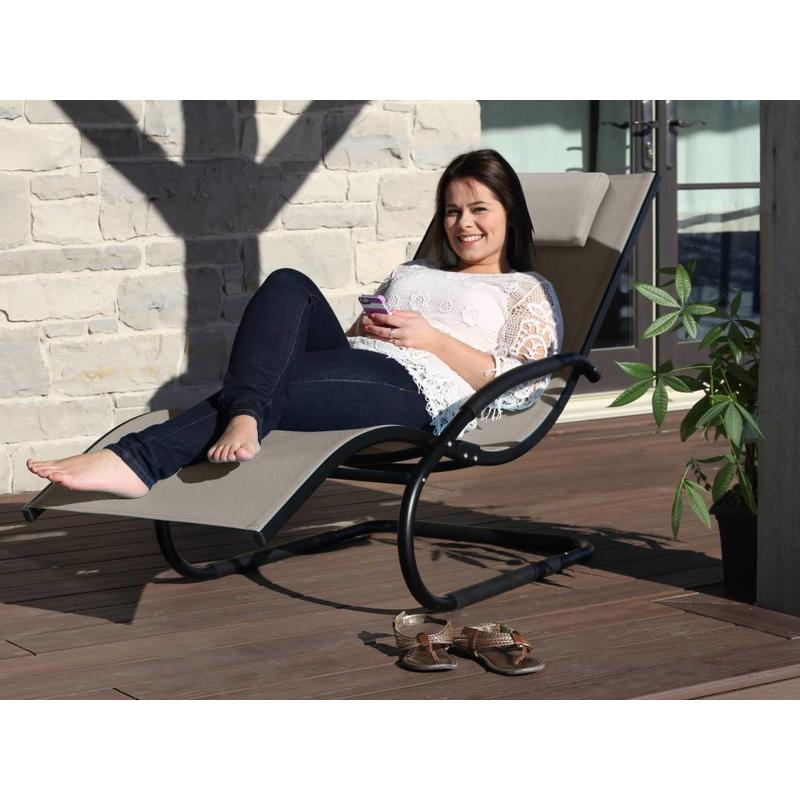 "Ligbed "" Wave Lounger Cocoa """