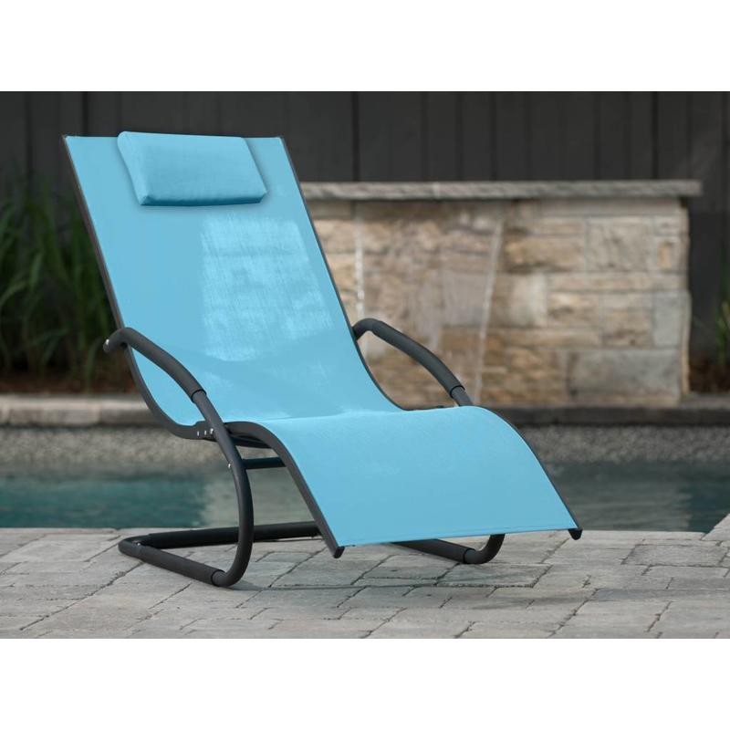 "Ligbed "" Wave Lounger Blue """