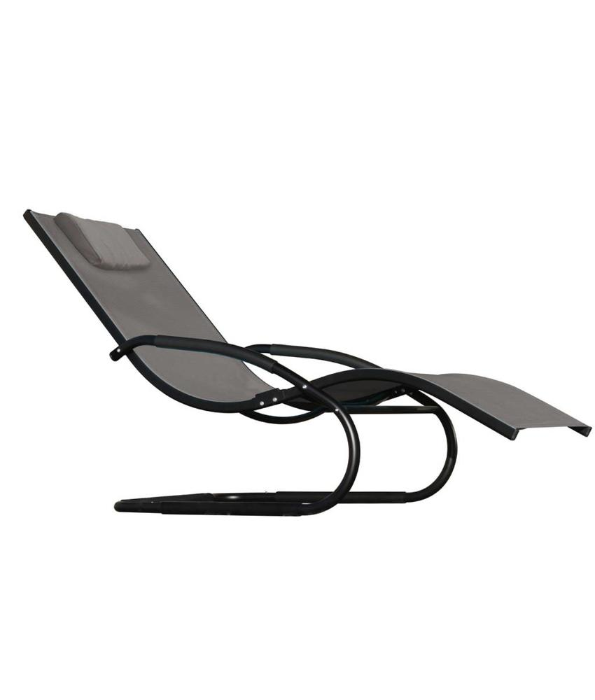 "Ligbed "" Wave Lounger Black """