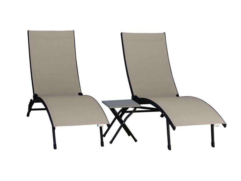 Ligstoel Tuin Aluminium : Aluminium ligbedden set alles wat u nodig hebt in uw tuin