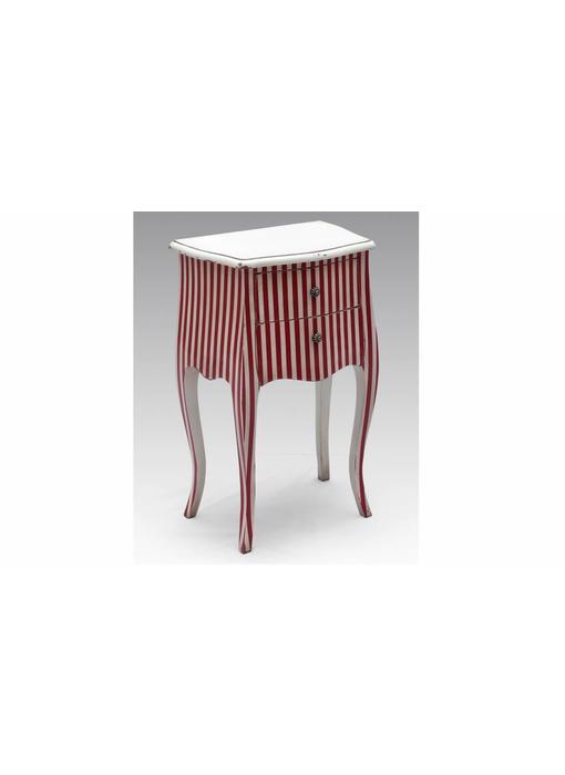 Sidetable rood wit - Bijoux