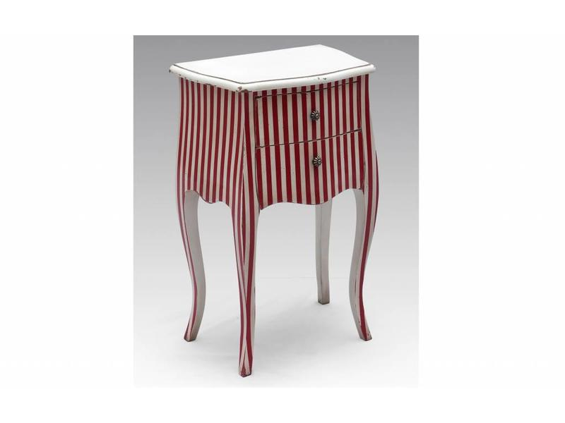 Sidetable rood wit - Bijoux