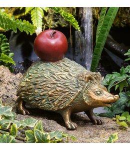 """Strassacker Bronzefigur """"Igel mit Apfel"""""""