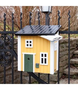 Briefkasten gelb - Landhausstil
