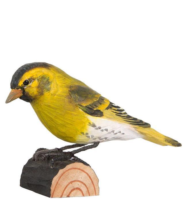 """Deko-Vogel """"Erlenzeisig"""" Holz"""