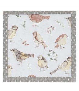 Papierservietten Gartenvögel