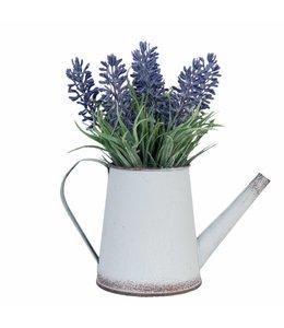 Deko Vintage Deko Gießkanne mit Lavendelstrauß