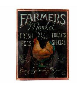 "Dekoschild ""Huhn - Farmers Market"" Vintage"