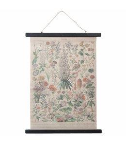 """Wandkarte Vintage """"Blumen"""" 55x87"""