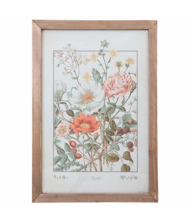 Clayre & Eef Wandbild mit Blumen