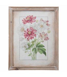 """Bilder Vintage Wandbild Landhaus """"Blumen"""" 36x46"""