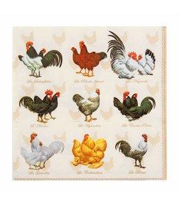 """Clayre & Eef Papierservietten """"Hühner"""""""