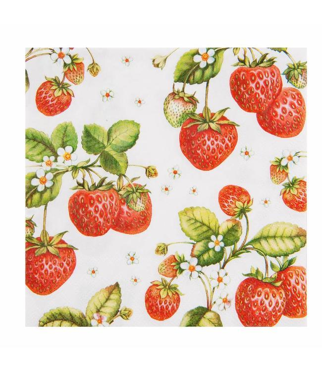 """Papierservietten """"Erdbeeren"""""""