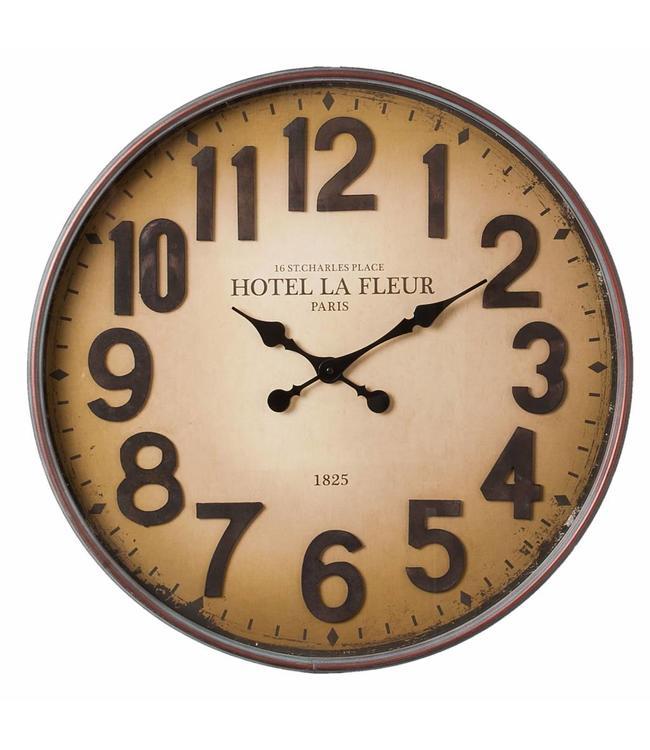 """Wanduhr Vintage """"Hotel La Fleur Paris"""""""