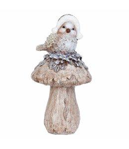 Vogel auf Pilz