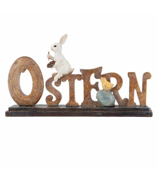 """Osterdeko Vintage """"Schriftzug Ostern mit Hase"""""""