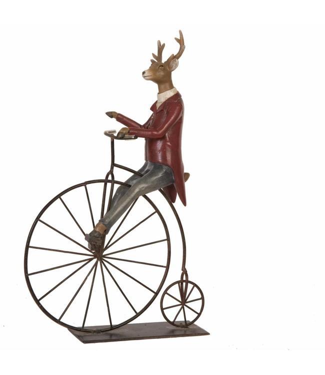 Rentier auf Fahrrad