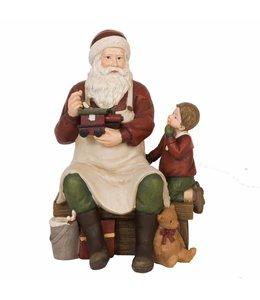 Clayre & Eef Weihnachtsmann mit Junge