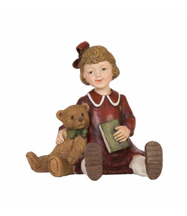 """Dekofigur """"Mädchen mit Teddybär"""""""