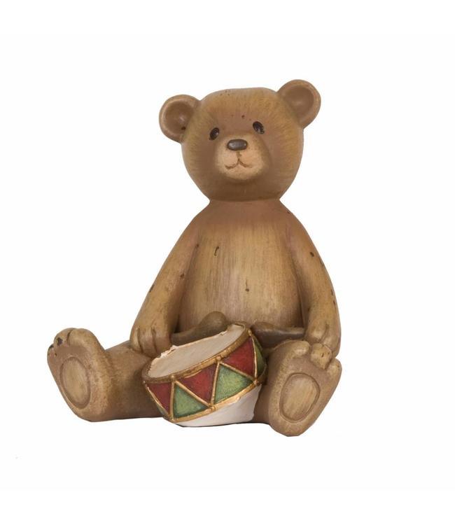 """Dekofigur """"Teddybär mit Trommel"""""""