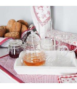 Honig-Glas mit Löffel