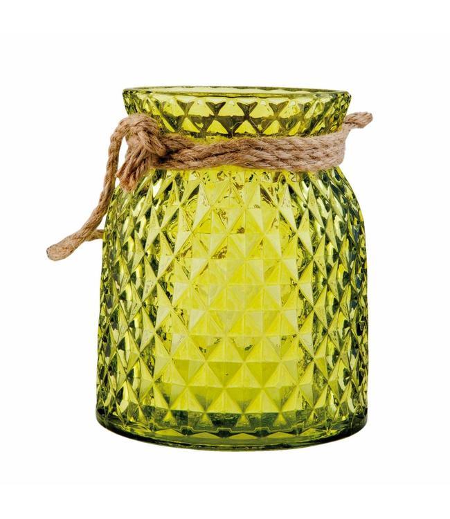 Teelichthalter grün