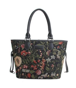 "Signare Damenhandtasche ""Morning Garden"" schwarz"