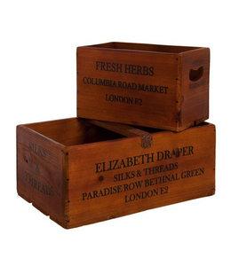 """Aufbewahrungskisten Vintage """"Fresh Herbs"""" Holz"""