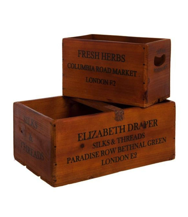 """Aufbewahrungskisten """"Fresh Herbs"""" Holz"""