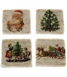 """Glasuntersetzer Vintage Glasuntersetzer Keramik """"Weihnachten"""""""