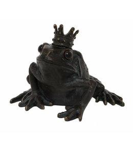 Frosch mit Krone - Schöne Deko am Gartenteich