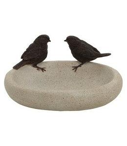 Vogeltränke mit Spatzen ♥ Landhausstil