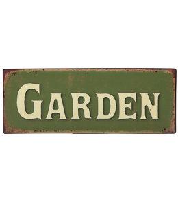 """Dekoschild """"Garden"""" für englische Garten-Fans"""