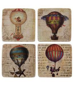 "Glasuntersetzer Landhaus ""Heißluftballons"" 4er Set"