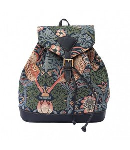 "Rucksack ""Strawberry Thief Blue"""