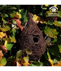 Großer Nistbeutel für kleine Gartenvögel wie Zaunkönig und Heckenbraunelle