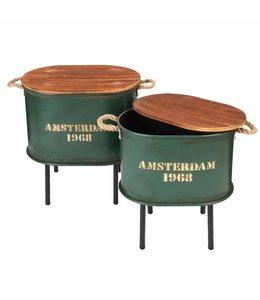 """Beistelltische """"Amsterdam 1968"""" British-Green 2er-Set"""
