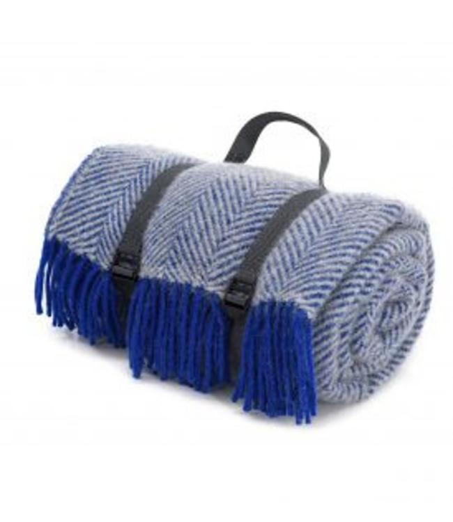 "Tweedmill Picknickdecke Polo ""Herringbone Royal Blue"""