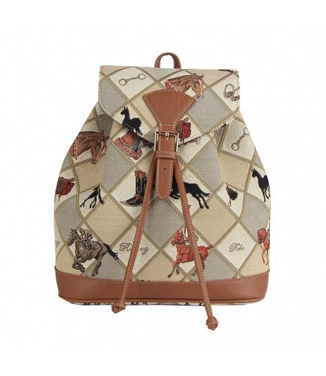 """Vintage Rucksack für Damen """"Pferdesport"""""""