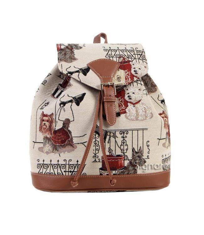 """Vintage Rucksack für Damen """"Hunde"""""""