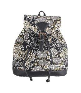 """Vintage Rucksack für Damen """"Klimt Black & White"""""""