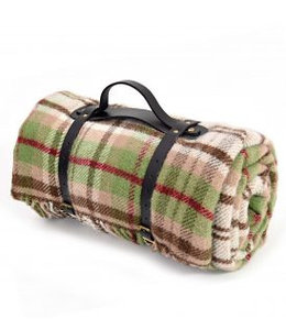 "Tweedmill Polo Picknickdecke mit Leder-Trageset ""Cottage Rural"""